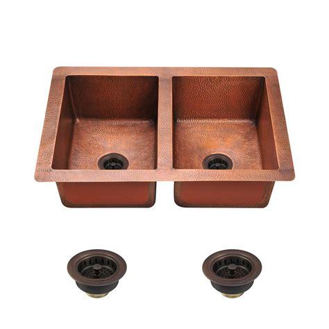 copper undermount kitchen sink mr direct undermount copper 33 in single bowl kitchen