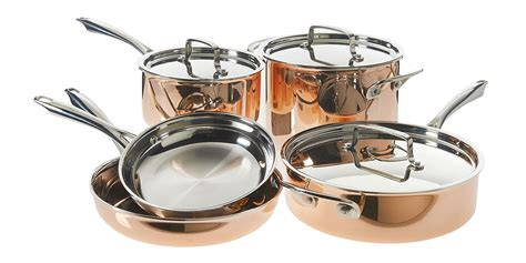 amazon  offering  cuisinart  piece copper cookware set   shipped orig