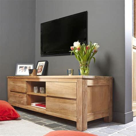 meuble tv en bois de teck 150 boston bois dessus bois dessous