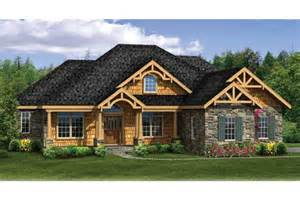 craftsman house plans with walkout basement craftsman ranch with finished walkout basement hwbdo76439 craftsman from builderhouseplans com