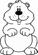 Groundhog Outline Clipart Coloring Sheets Craft Crafts Worksheets Colouring Popular Preschool Activities Webstockreview Puppet Kid sketch template