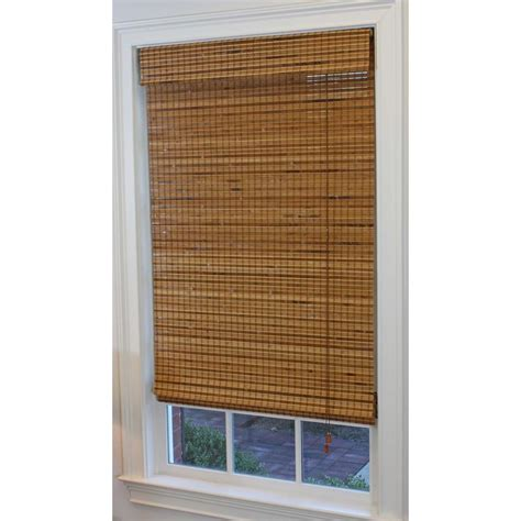 bamboo blinds lowes shop style selections 52 in w x 64 in l pecan light