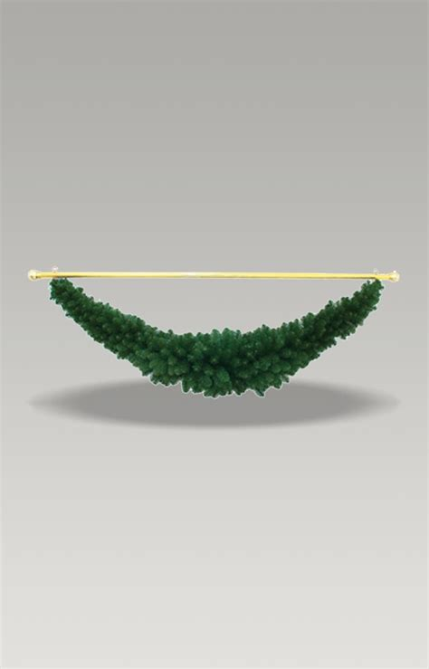 premium green tapered swag garland  gold rod