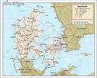 Denmark Map - ToursMaps.com