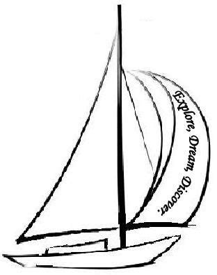sailboat tattoo idea, one cannot discover new oceans unless you have the courage to lose sight