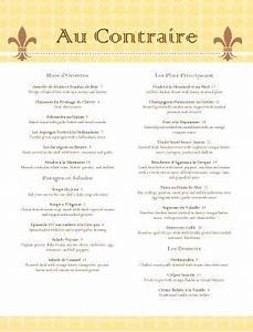 french bistro menu template diy menu templates With french cafe menu template