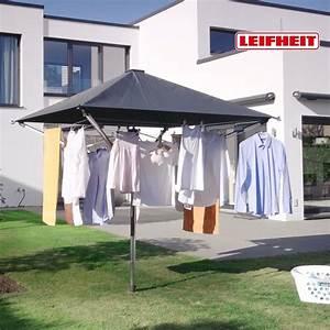 Wäschespinne Mit Dach : leifheit w schespinne linoprotect 400 online kaufen ~ Watch28wear.com Haus und Dekorationen
