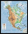 Physical map of North America. North America physical map ...