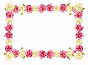 Pink Rose clipart borders vintage color - Pencil and in ...