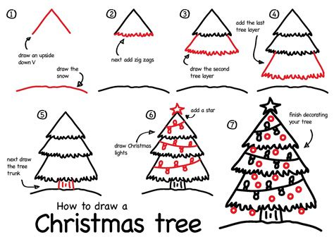 christmas tree dabbler 7 steps daily doodly