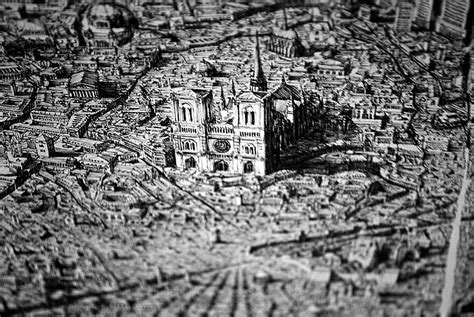 Detailed Image Artist Draws Amazingly Detailed Fictional Cityscapes With