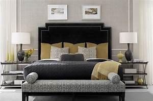 Black, Velvet, Art, Deco, Bedroom