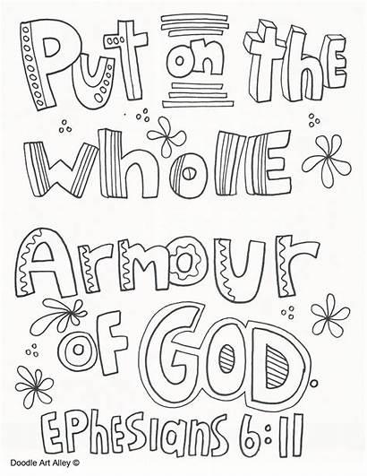Armor God Coloring Armour Printable Bible Crafts