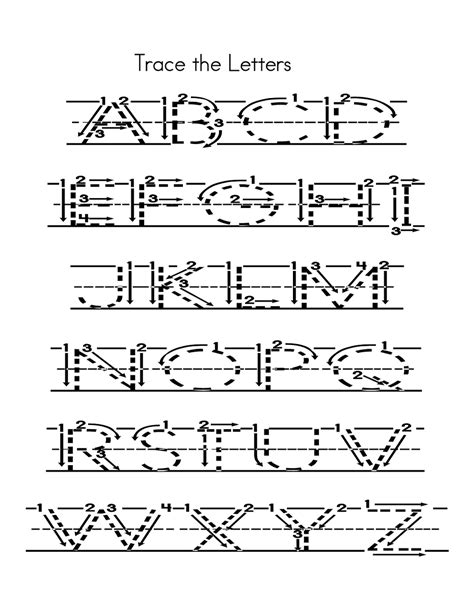 capital alphabets tracing worksheets printable learning