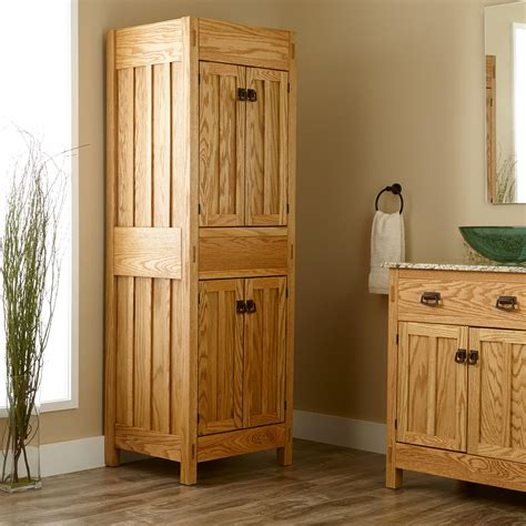 mission linen cabinet bathroom