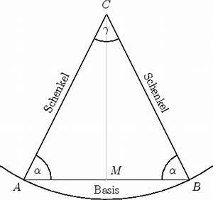 Höhe Gleichschenkliges Dreieck Berechnen : mathematik online lexikon spezielle dreiecke ~ Themetempest.com Abrechnung