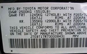 Toyota Camry 2008 Vin Number  How To Decode Your Toyota 39