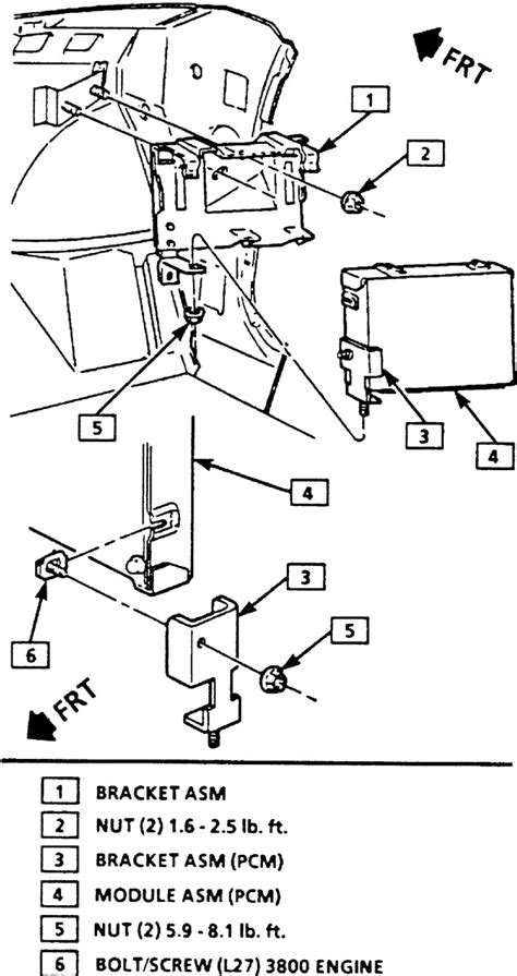 Acdelco Buick Lesabre Wiring Diagram by Buick Lesabre Questions Where Can I Find The Computer On