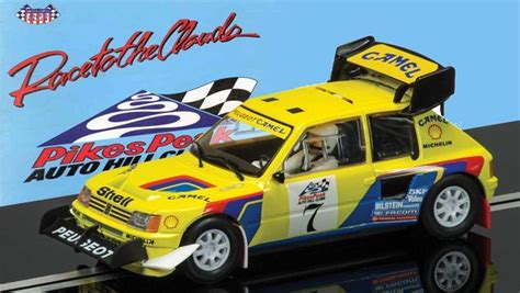 peugeot 205 t16 pikes peak 1987 rally b shrine peugeot 205 t16 pikes peak scalextric