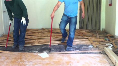 How to remove hardwood floors (nail down)   YouTube