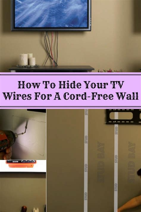 hide  tv wires   cord  wall home