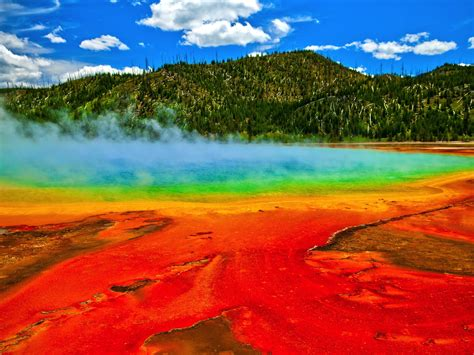spectacular hd wallpaper geysers yellowstone national park