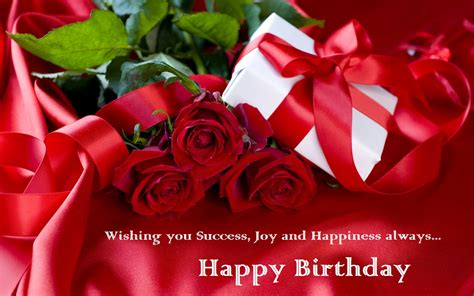 Happy Birthday Roses Best Gifts Red Roses Wishes Cards For Girl Friends