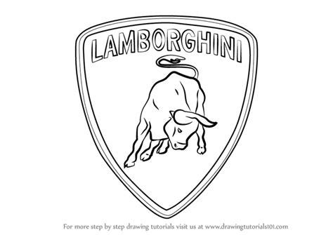 corvette drawing logo lamborghini