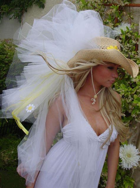 Western Cowboy Hat Vegas Veils Bridal Veil Custom