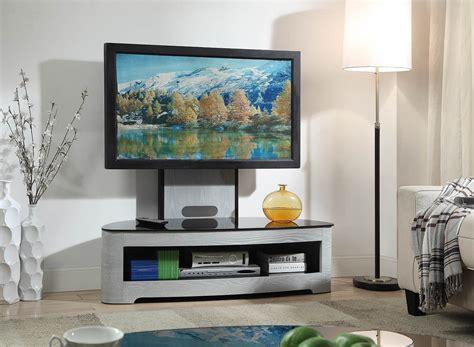 jual cantilever modern tv stand glass top jf walnut