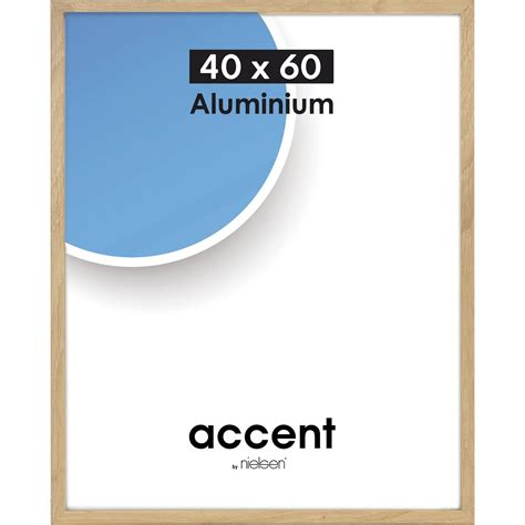 cadre photo 40 x 60 cadre aluminium nielsen accent 40 x 60 cm ch 234 ne clair leroy merlin
