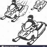 Snowmobile Coloring Pages Printable Getcolorings Getdrawings sketch template