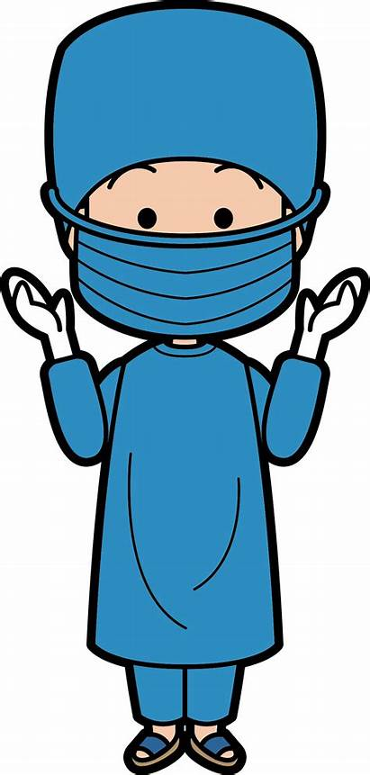 Doctor Surgeon Surgery Cartoon Clipart Clip Transparent