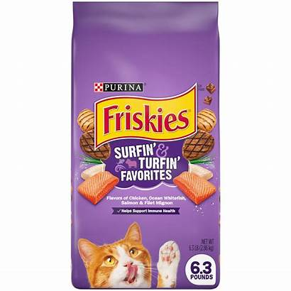 Friskies Cat Dry Surfin Bag Favorites Hairball