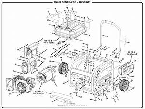 Homelite Ry9c3501 Digital Inverter Generator Mfg  No  090930281 Parts Diagram For General Assembly