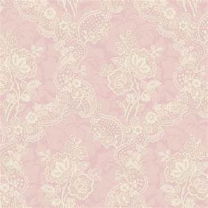 522-30204 Pink Lace Floral - Fairwinds Studio Wallpaper