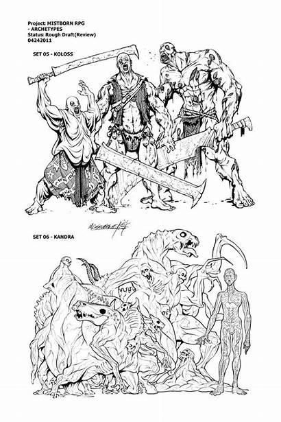 Mistborn Illustration Coloring Kandra Koloss Inkthinker Rpg
