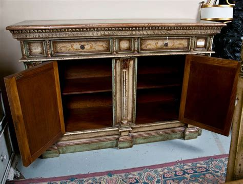 Painted Credenza by Italian Painted Credenza Cabinet At 1stdibs
