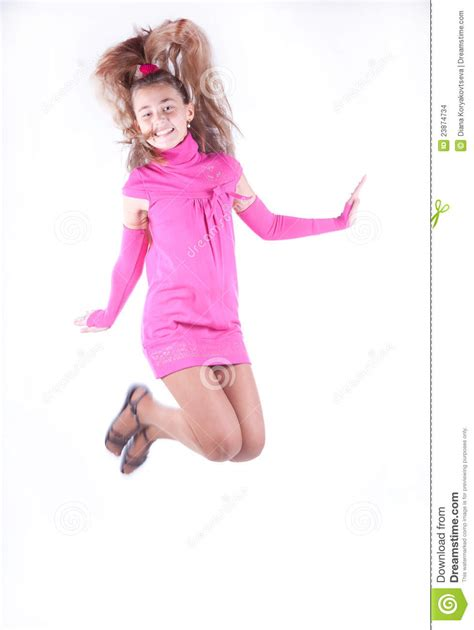 Teen Girl In A Pink Dress Posing Stock Images Image 23874734