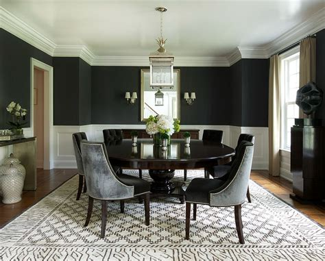 Black Dining Room Set And Interior Design Ideas Photos by How To Use Black To Create A Stunning Refined Dining Room