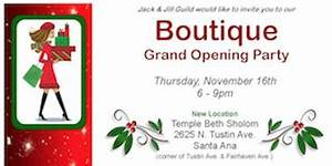 Jack & Jill Guild Holiday Boutique Grand Opening Party