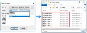 How to split document into multiple documents in word for Word documents split