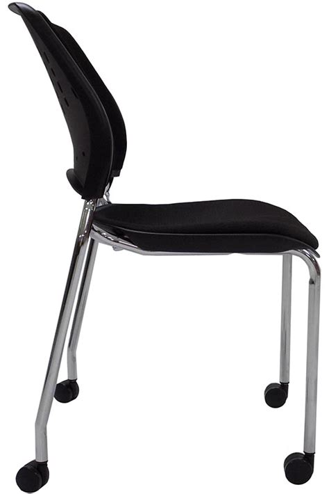 300 lb capacity padded mobile stacking guest chair