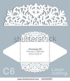 c6 envelope template ai set laser cut wedding invitation templates card envelope