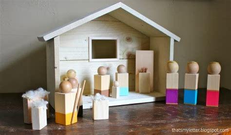 letter diy wood nativity figures
