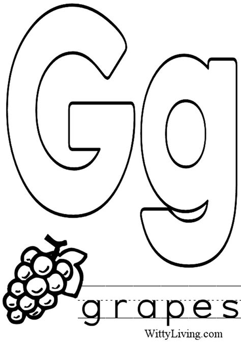 Letter G Coloring Page Letter G Coloring Page Az Coloring Pages