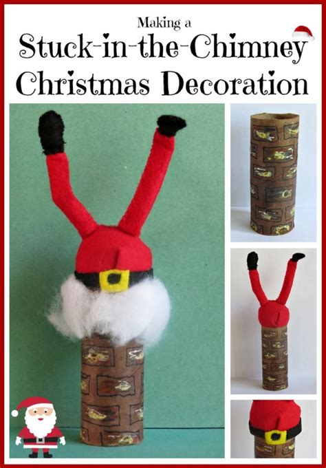 making  stuck   chimney christmas decoration