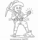 Miner Goliath Nugget Educated Prospector sketch template