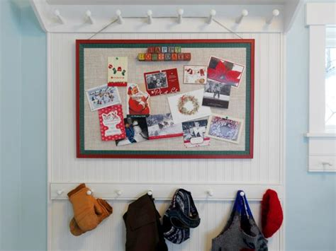 holiday greeting card display diy