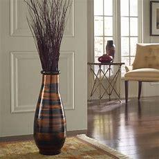 Copperworks Round Floor Vase  Modern  Home Decor